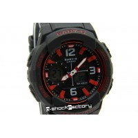 Baby-G BGA-230 Matte Black & Red Watch