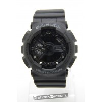 G-Shock & Baby-G GA-110 & BA-110 Military Matte Black Couple Watch Set