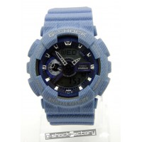 G-Shock & Baby-G GA-110DC & BA-110DC Denim Blue Couple Watch Set