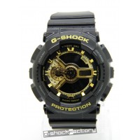 G-Shock & Baby-G GA-110GB & BA-110GB Limited Edition Couple Watch Set Black & Gold