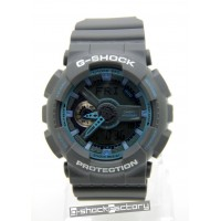 G-Shock & Baby-G GA-110TS & BA-110TS Couple Watch Set Grey & Blue