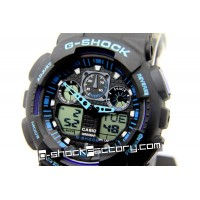G-Shock GA-100 Black & Blue Wrist Watch