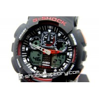 G-Shock GA-100 Black & Red Wrist Watch