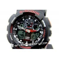 G-Shock GA-100 Black & Red Wrist Watch