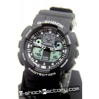 G-Shock GA-100 Black & White Wrist Watch