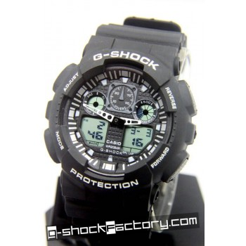 G-Shock GA-100 Black & White Wrist Watch
