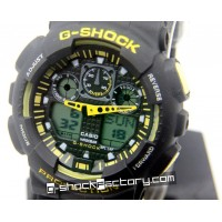 G-Shock GA-100 Black & Yellow Wrist Watch