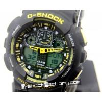 G-Shock GA-100 Black & Yellow Wrist Watch