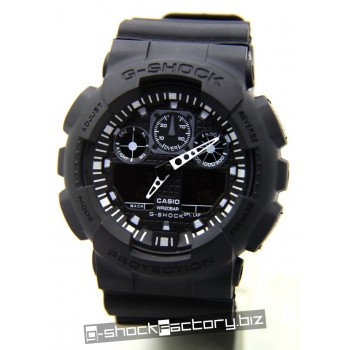 G-Shock GA-100 Black on Black Watch