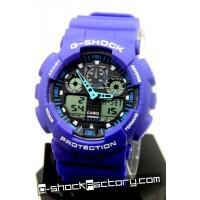 G-Shock GA-100 Blue & Black Wrist Watch