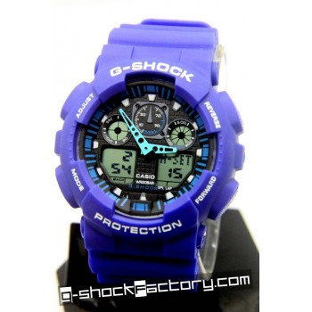 G-Shock GA-100 Blue & Black Wrist Watch