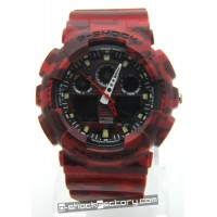 G-Shock GA-100 Camouflage Red Watch