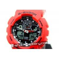G-Shock GA-100 Red & Black Wrist Watch