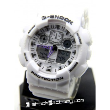 G-Shock GA-100 White Wrist Watch