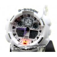 G-Shock GA-100 White Wrist Watch