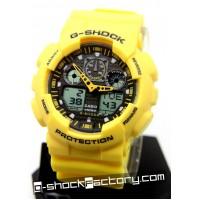 G-Shock GA-100A-9A Bumble Bee Yellow Watch
