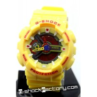 G-Shock GA-110 Yellow & Red Watch