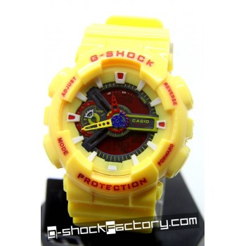 G-Shock GA-110 Yellow & Red Watch