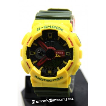 G-Shock GA-110RF-9AER Limited Edition Rastafarian Pack Yellow & Green Watch