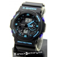 G-Shock GA-150 Black & Blue Watch