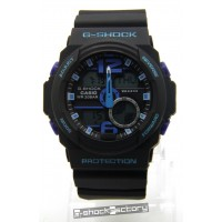 G-Shock GA-310 Matte Black & Blue Watch