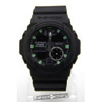 G-Shock GA-310 Matte Black & Green Watch