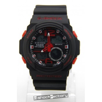 G-Shock GA-310 Matte Black & Red Watch