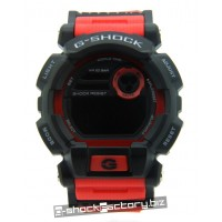 G-Shock GD-400 Matte Black & Red Watch