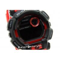 G-Shock GD-400 Matte Black & Red Watch