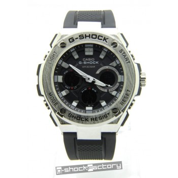 G-Shock GST-110 Steel Silver & Black Watch