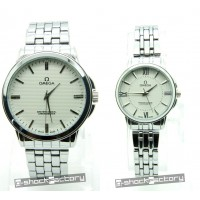 Omega Master Co-Axial Silver Couple Set Watch