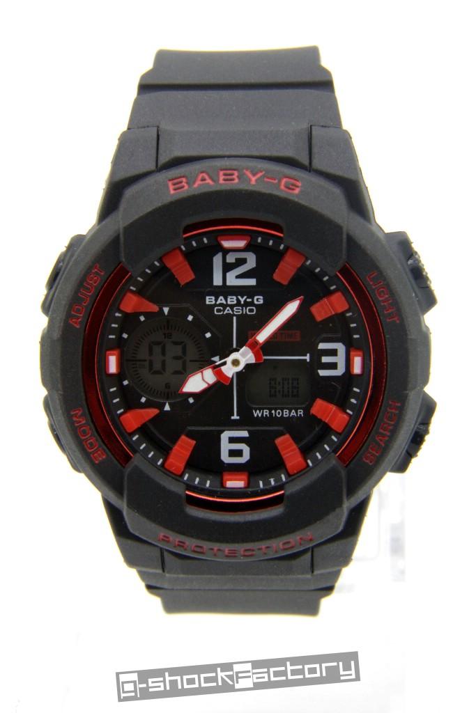 Baby G Bga 230 Matte Black Amp Red Watch By Www G