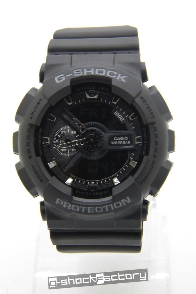 e4ca871a50dea G-Shock   Baby-G GA-110   BA-110 Military Matte Black Couple Watch ...