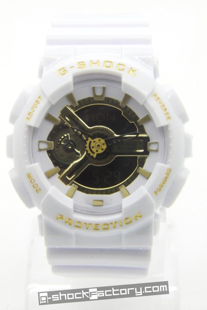 g shock ga 110 white gold by www g shockfactory